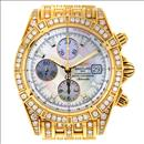 Breitling Chronomat Evolution K13356aj All Diamond 18k Gold Watch