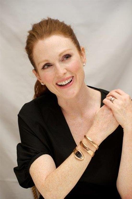 Julianne Moore wears Bvlgari Serpenti Watch