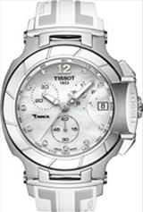 Tissot T-Race White Mother Of Pearl Dial White Silicone Men's Sports Watch