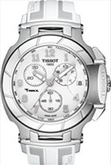 Tissot T-Race Chronograph White-Grey Dial White Silicone Men's Watch