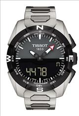 Tissot T-Touch Expert Solar Grey-Black Dial Titanium Band and Case Men's Sports Watch