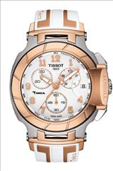 Tissot T-Race White Dial Silicone Men's Watch