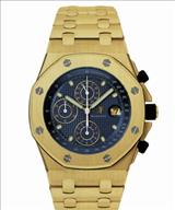 Audemars Piguet Royal Oak Offshore Blue Dial 18kt Yellow Gold Men's Watch