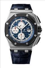 Audemars Piguet Royal Oak Offshore Chronograph Blue Dial Leather Men's Watch