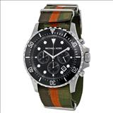 Michael Kors Everest Grosgrain Black Dial Camouflage Fabric Men's Quartz Watch