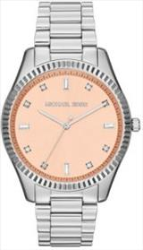 Michael Kors Blake Rose Dial Silver Stainless Steel Ladies Quartz Watch