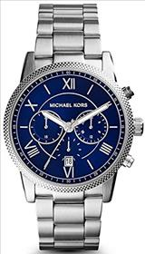 Michael Kors Hawthorne Blue Dial Stainless Steel Case Men's Quartz Watch