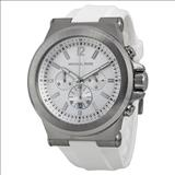 Michael Kors Dylan Silver Dial Chronograph Men's Watch