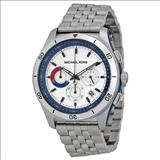 Michael Kors Outrigger Chronograph Silver and Blue Dial Stainless Steel Men's Watch