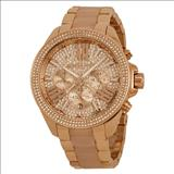 Michael Kors Wren Crystal Pave Dial Chronograph Ladies Watch