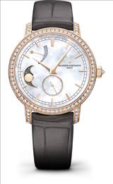 Vacheron Constantin Traditionnelle Moon Phase Mother of Pearl Dial Ladies Watch