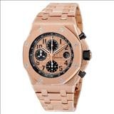 Audemars Piguet Champagne Dial 18kt Pink Gold Men's Watch 26470OROO1000OR01