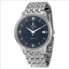 Omega De Ville Prestige Blue Dial Stainless Steel Men's Watch