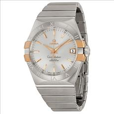 Omega Constellation Co-Axial Automatic Steel and Rose Gold Men's Watch 12320382102004