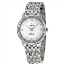 Omega De Ville Prestige Mother of Pearl Dial Stainless Steel Ladies Watch