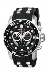 Invicta 6977 Pro Diver Collection Stainless Steel and Black Polyurethane Watch