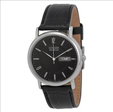 Citizen BM8240-03E Eco-Drive Stainless Steel and Black Leather Watch