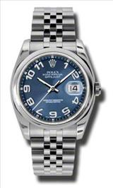 Rolex Datejust Blue Concentic Dial Stainless Steel Jubilee Bracelet Mens Watch 116200BLCAJ