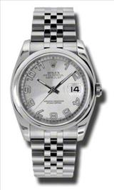 Rolex Datejust Silver Concentric Dial Stainless Steel Jubilee Mens Watch 116200SCAJ
