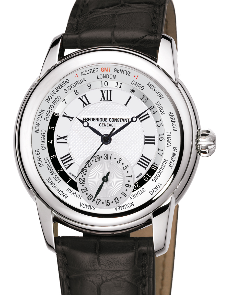 Frederique Constant Classic Manufacture Worldtimer watch ...